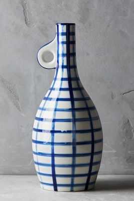 Milos Vase - Blue Motif, Large - Anthropologie