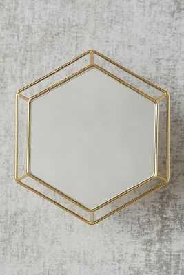 Hexagon Outline Mirror - Anthropologie