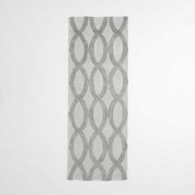Linking Loops Wool Rug – Frost Gray - 2.5'x7' - West Elm