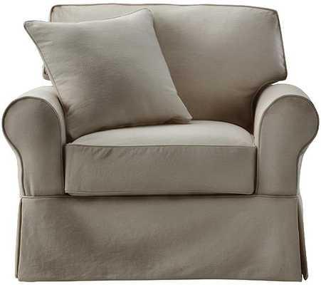 Mayfair Slipcovered Chair - Classic Smoke - Home Decorators