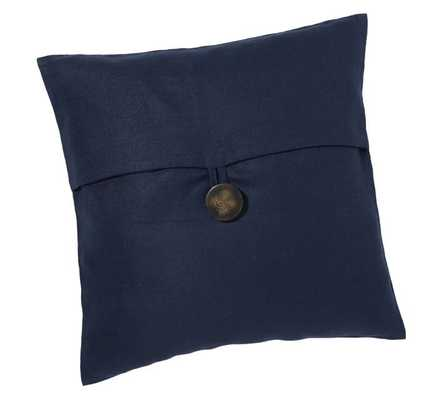 """TEXTURED LINEN PILLOW COVER- Sailor blue- 18"""" sq- Insert Sold Separately - Pottery Barn"""