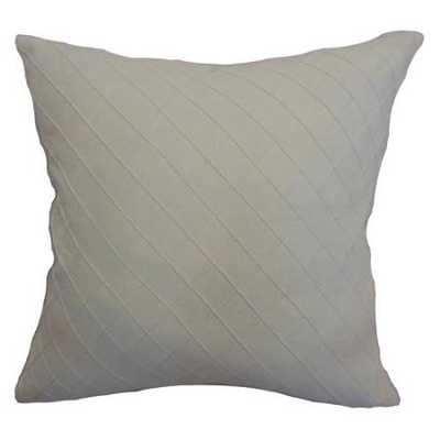 """Harsent Quilted Pillow Creme - 18"""" x 18"""" - polyester pillow insert - Linen & Seam"""