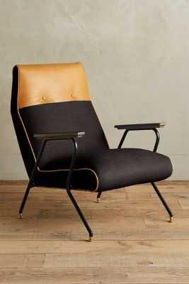 Linen Quentin Chair - Black - Anthropologie