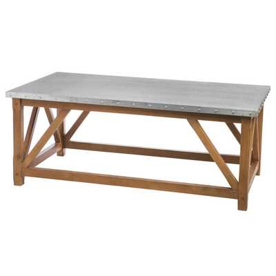 Zinc Top Bridge Coffee Table - Overstock