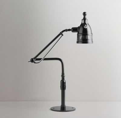 20TH C. ARTICULATING TASK LAMP BLACK - RH Teen