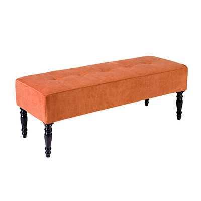 Brighton Hill Two Seat Bench - Orange - Wayfair