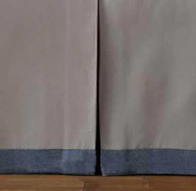 Tailored border crib skirt - RH Baby & Child