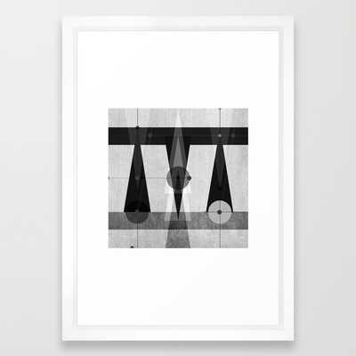 """Geometric/Abstract 17, 15"""" x 21"""", Vector white frame - Society6"""