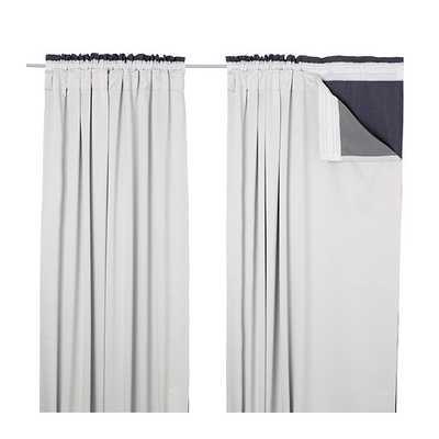 "GLANSNÃ""VA Curtain liners - 1 pair - Light gray - 56"" x 94"" - Ikea"