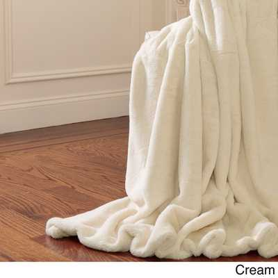 """Aurora Home Throw-Luxe Faux Fur Heavy Weight Throw Blanket-84"""" - Overstock"""