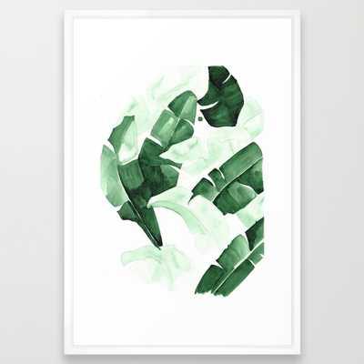 "Beverly III / FRAMED ART PRINT/ VECTOR WHITE LARGE (GALLERY) (26"" X 38"") - Society6"