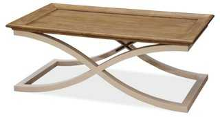Modern Muse Coffee Table, Natural - One Kings Lane