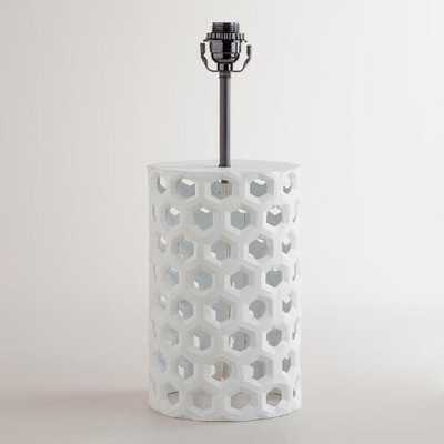 Honeycomb Table Lamp Base - World Market/Cost Plus