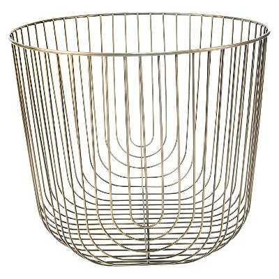 Large Round Brass Wire Basket - Target