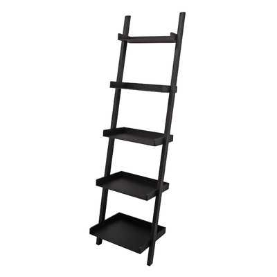 "Hadfield 67"" Leaning Bookcase - Black - Wayfair"
