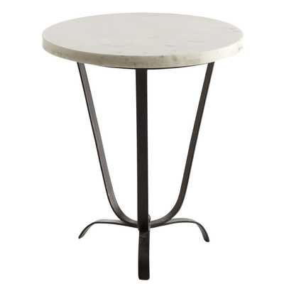 Sleek Marble-Top Accent Table - Wisteria