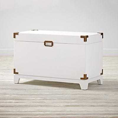 Campaign Toy Box (White) - Land of Nod