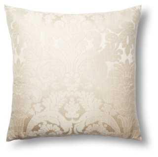 Calloway 17x17 Pillow, Cream - One Kings Lane