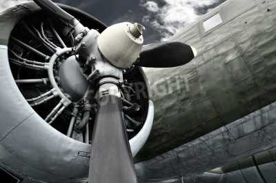 Old Aircraft Close Up Mural - 9x6 - Unframed - Murals Your Way