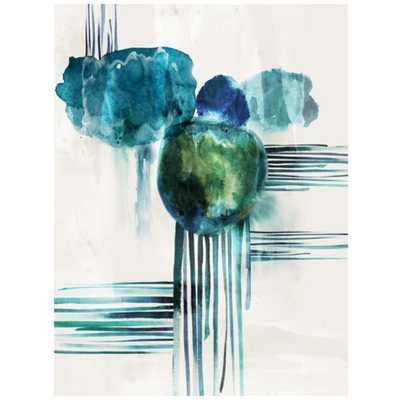 "Aqua Flow-30"" x 40""  Unframed - High Fashion Home"