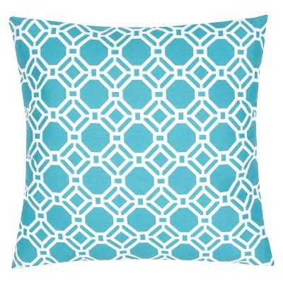 Ecom Outdoor Decorative Pillow Jaipur Blue White - 20sq. - Polystyrene Beads Fill - Target