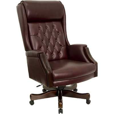 High-Back Leather Executive Office Chair - Wayfair