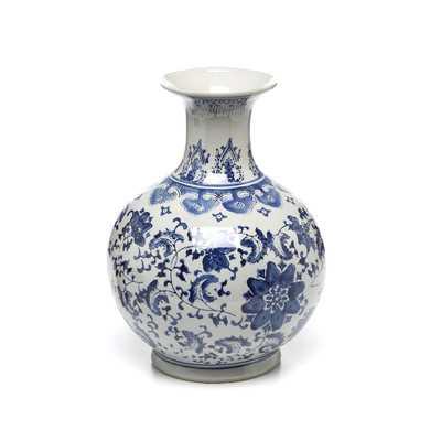 Blue Floral Vase - Wayfair
