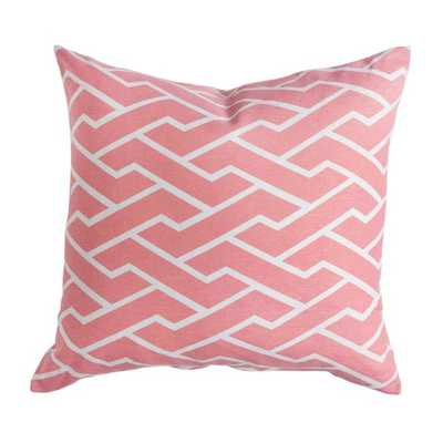 "PINK CITY MAZE PILLOW - 20"" x 20"" - Insert not included - Caitlin Wilson"