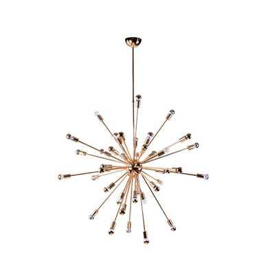 24 Light Chandelier - Gold - AllModern