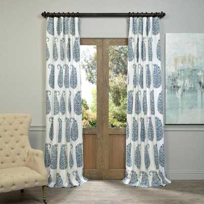 EFF Paisley Park Printed Cotton Twill Curtain Panel - Overstock