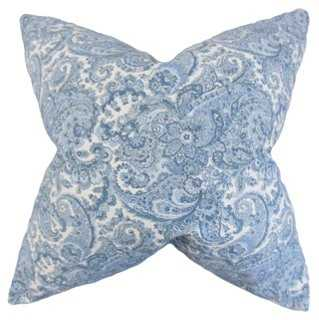 Paisley 18x18 Pillow, Blue - One Kings Lane