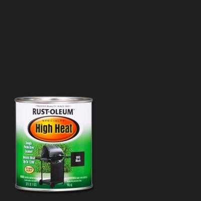 1 qt. Bar-B-Que Black Satin High Heat Paint - Home Depot