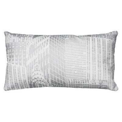 "Rizzy Home Printed Metallic Pattern Decorative Pillow- 11"" x 21"" - Target"