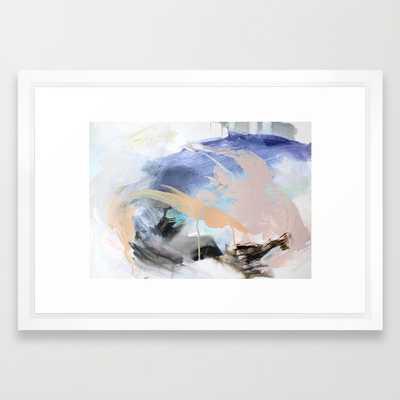 "1 3 0-FRAMED ART PRINT/ VECTOR WHITE SMALL (21"" X 15"") - Society6"