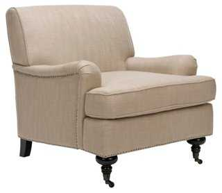 Sterling Club Chair, Beige - One Kings Lane
