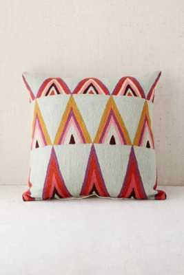"""Assembly Home Mifflo Crewel Triangle Pillow -18""""l x 18""""w-Insert included - Urban Outfitters"""