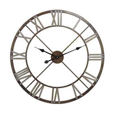 Open Center Iron Wall Clock - Overstock