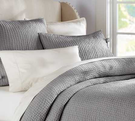 PICK-STITCH QUILT - Queen, Flangstone - Pottery Barn
