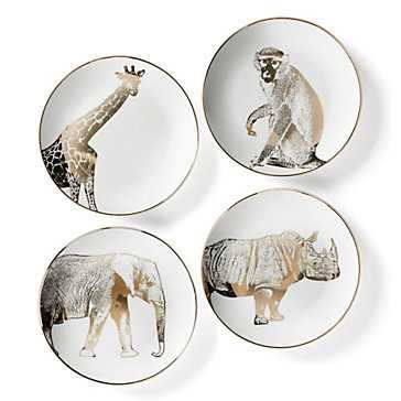 Safari Plates - Set of 4 - Z Gallerie