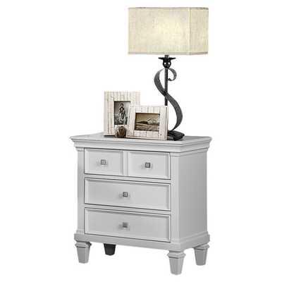 Camellia 3 Drawer Nightstand - White - Wayfair