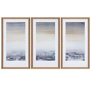 Sable Island - Set of 3 - 54x32 - Framed (gold) - Z Gallerie