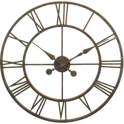 "Oversized 30"" Skeleton Tower Wall Clock - Wayfair"