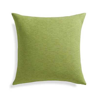 "Linden Leaf Green 18"" Pillow - Insert included - Crate and Barrel"