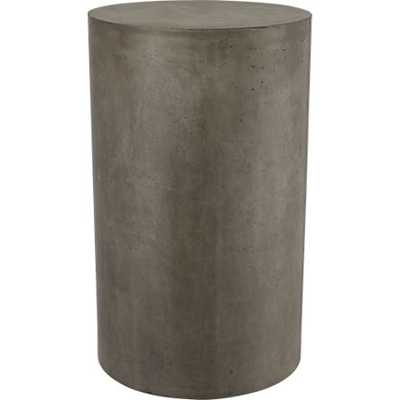 Column small grey pedestal table - CB2