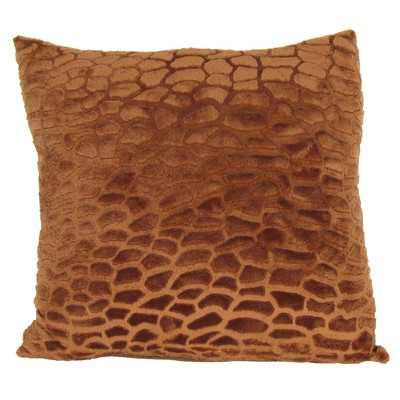 """Faux Fur Throw Pillow - 17"""" H x 17"""" W x 6"""" D - Polyester/Polyfill - Wayfair"""