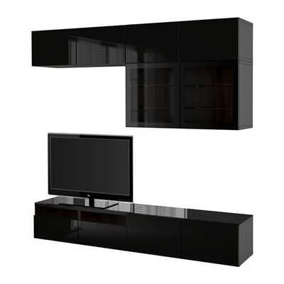 BESTÃ… TV storage combination/glass doors - Ikea