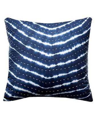Indigo Tie-Dye Pillow - 18sq. - Down insert - High Street Market