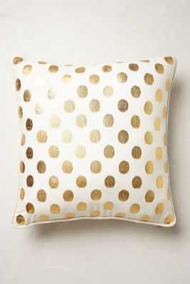 "Luminous Dots Pillow, 18"", Gold - Polyfill - Anthropologie"