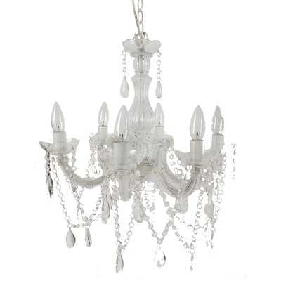 6 Light Crystal Chandelier - Wayfair