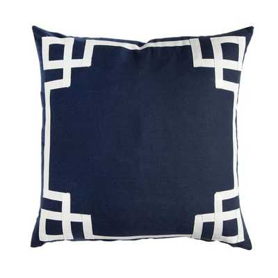"NAVY DECO PILLOW - 20"" x 20"" - Insert not included - Caitlin Wilson"